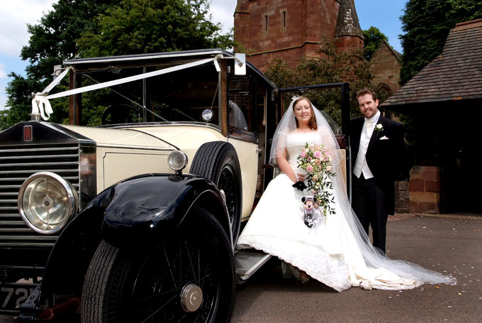 Lisa and Nick on their way to the Stone Manor Hotel Kidderminster