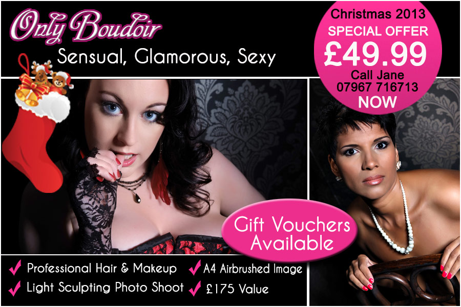 boudoir photography vouchers christmas